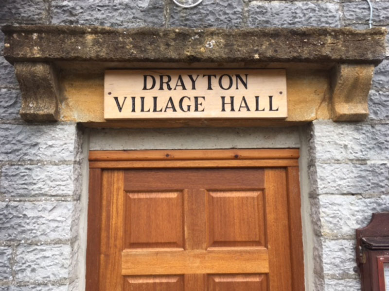 Fresh new look for Drayton Village Hall